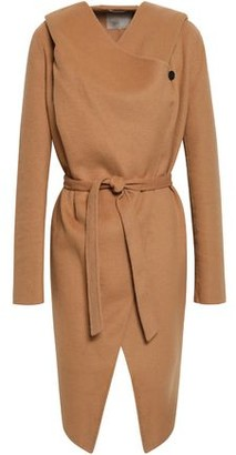 Soia & Kyo Belted Wool-blend Felt Hooded Coat