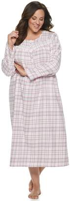 Croft & Barrow Plus Size Printed Flannel Nightgown