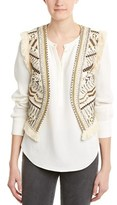 French Connection Cerro Embroidered Vest.