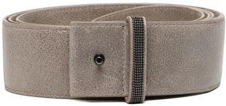 Brunello Cucinelli Angular Snap-Fastened Belt