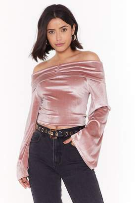 Nasty Gal Womens So Touchy Velvet Off-the-Shoulder Top - pink - 6