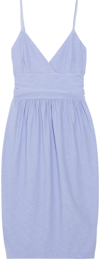 James Perse Ruched stretch-jersey dress