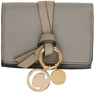 Chloé Grey Trifold Alphabet Wallet