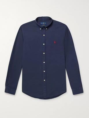 Polo Ralph Lauren Slim-Fit Button-Down Collar Garment-Dyed Cotton Oxford Shirt