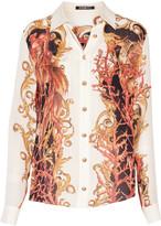 Balmain Printed silk-chiffon shirt