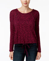 Roxy Juniors' Space-Dyed Drawstring Sweater