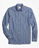 Brooks Brothers Chambray Thin-Stripe Sport Shirt