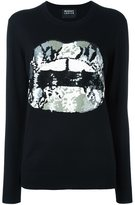 Markus Lupfer sequin lip jumper
