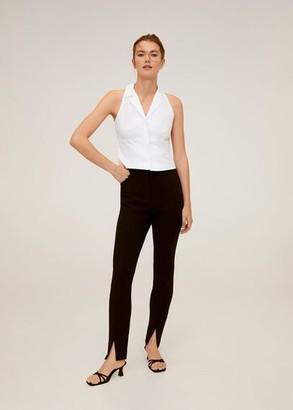 MANGO Cropped cotton shirt white - 6 - Women