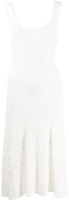 Temperley London Open-Knit Scoop-Neck Dress