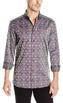 Vivienne Westwood Men's Stretch Button-Down Shirt Graphic Diamond