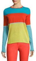 Diane von Furstenberg Colorblock Long Sleeve Tee