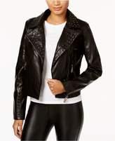 Joujou Jou Jou Juniors' Studded Faux-Leather Moto Jacket