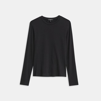 Theory Tiny Long-Sleeve Tee in Cotton