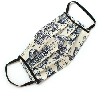 General Knot & Co Reusable Nautical Toile Face Mask