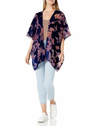 Angie Women's Burnout Velvet Kimono