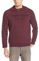 Calvin Klein Jeans Men's Slit Neck Logo Sweatshirt