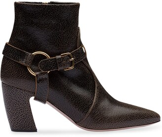 Miu Miu Removable Strap Ankle Boots