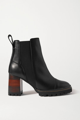 See by Chloe Leather Chelsea Boots - Black