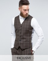 Heart & Dagger Skinny Vest In Wool Tweed