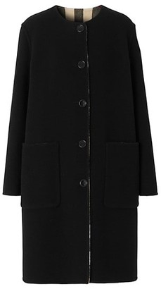 Burberry Tisbury Stretch-Wool Button Coat