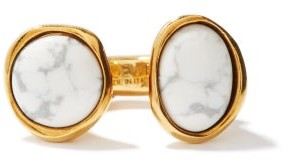 Loewe Tree Marbled-resin Ring - White Gold