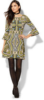New York & Co. Must-Have Bell-Sleeve Printed Flare Dress