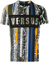 Versus printed T-shirt - men - Cotton/Spandex/Elastane/metal - S