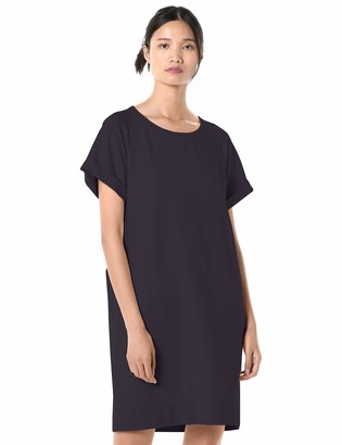 Goodthreads Modal Fleece Roll-Sleeve Sweatshirt Dress Navy Medium