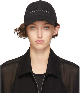 Random Identities Black Branded Baseball Cap