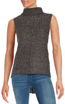 Design Lab Lord & Taylor Hi-Lo Sleeveless Turtleneck Sweater