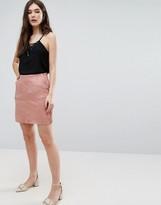 Lavand Suedette A-Line Skirt