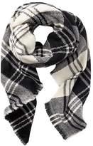 Charlotte Russe Fringe Plaid Blanket Scarf