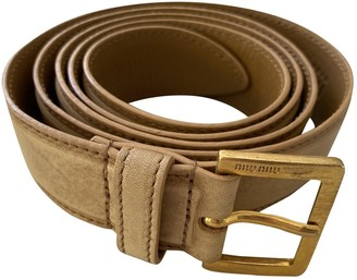 Miu Miu Beige Leather Belts