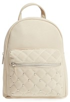 Omg Quilted Faux Leather Backpack - White