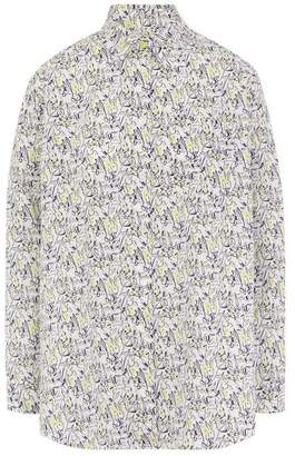 Paul Smith Lucky Meadow Print Cotton Shirt
