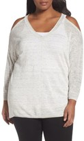 Sejour Plus Size Women's Cold Shoulder Sweater