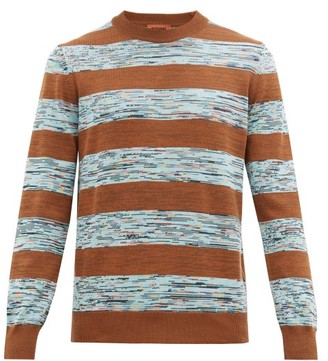 Missoni Striped Cotton Sweater - Brown Multi