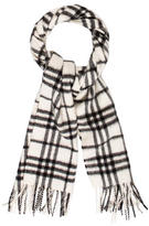 Burberry Cashmere Beat Check Scarf