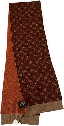 Gucci Brown Wool Scarves