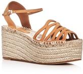 Giorgio Armani Ankle Strap Platform Espadrille Sandals