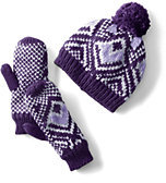 Classic Youth Hat and Mitten Set-Snowdrift/Soft Putty