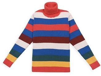 Bobo Choses Little Girl's & Girl's Striped Turtleneck Sweater