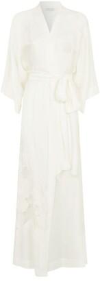 Carine Gilson Silk Lace Kimono Robe