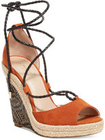 Charles by Charles David Boston Lace-Up Platform Wedge Sandals