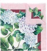 Dolce & Gabbana hydrangea printed scarf