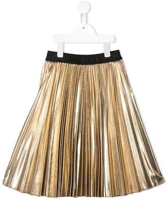 Givenchy Kids Lurex Pleated Skirt