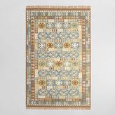 Brown Flatweave Wool Sumin Area Rug