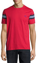 Fred Perry Bomber-Stripe T-Shirt, Red