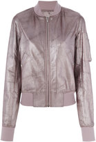 Rick Owens classic bomber jacket - women - Calf Leather/Virgin Wool/Cotton/Cupro - 38